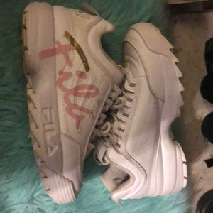 Fila pink and golds
